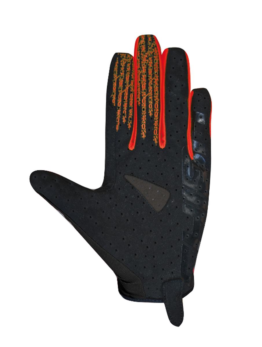 Chiba Titan Fahrrad Handschuhe lang schwarz//rot 2019