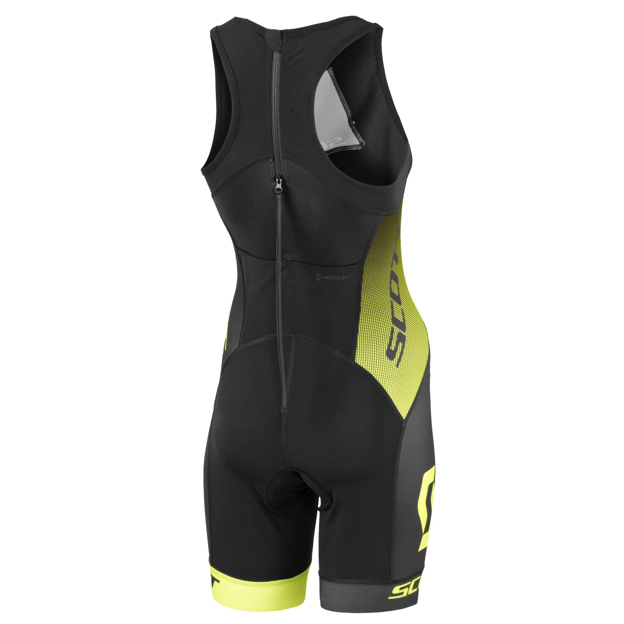 Scott Plasma Suit Damen Triathlon Fahrrad Body Einteiler kurz schwarz//pink 2020